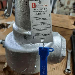 Calibração de valvulas de segurança